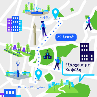 Illustrated Maps for mobile use for Socialab agency, 2021 | Client:Anytime