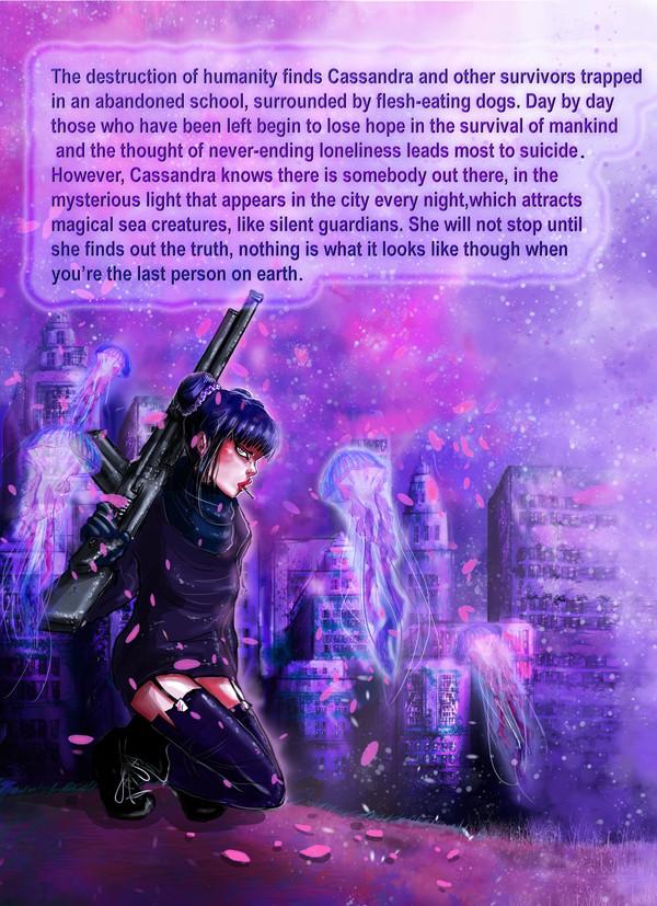 ''Requiem In Deep Blue'' comic back cover, 2017