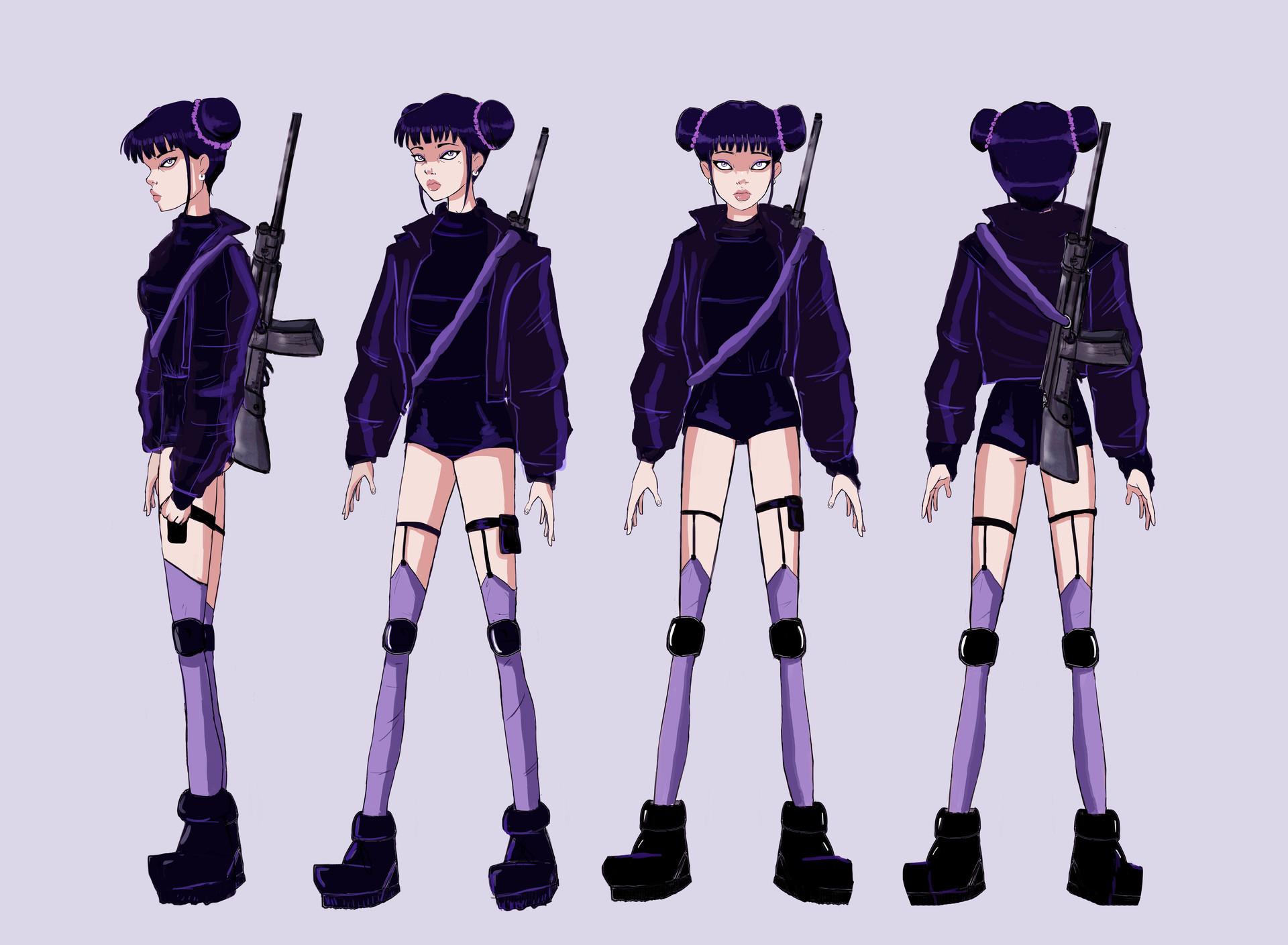 Character Design for Cassandra, 2017