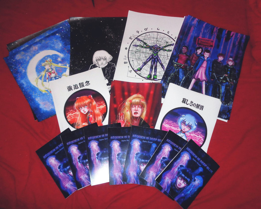 ''Requiem In Deep Blue'' and art prints, Comicdom Athens 2017