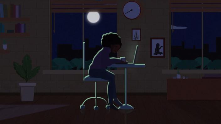 Still from animated short, 2020