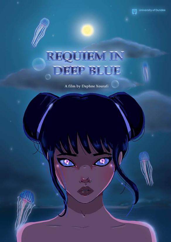 ''Requiem In Deep Blue'' film poster, University of Dundee, Duncan of Jordanstone College of Art and Design, 2018