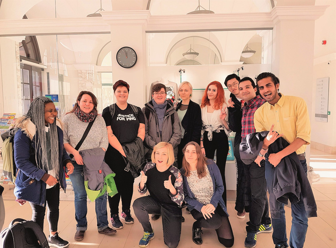 Msc Animation & VFX class visit to Beano studios after a successful collaboration, 2018