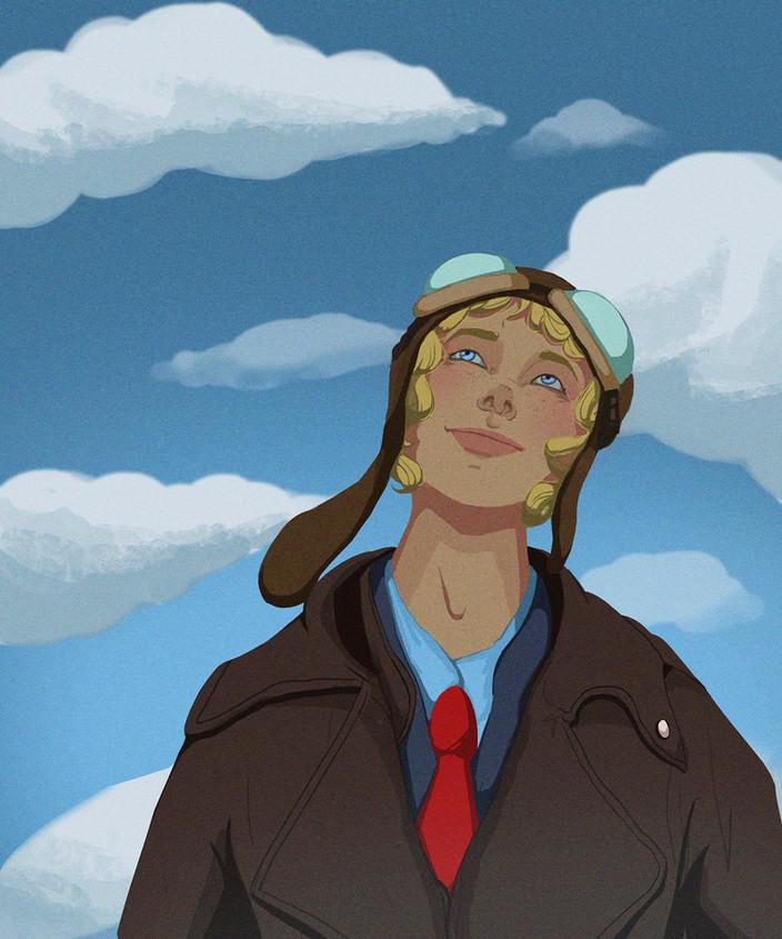 Amelia Earhart for World International W