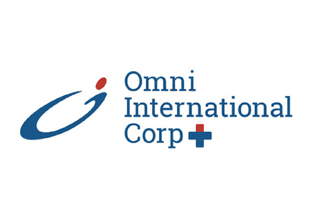 Logo for Omni International exam gloves