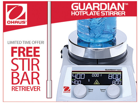 Buy any OHAUS Guardian hotplate stirrer, receive 3 free gifts