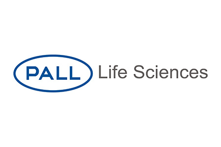 Logo for Pall Life Sciences, manufacturer of filtration, separation and purification products