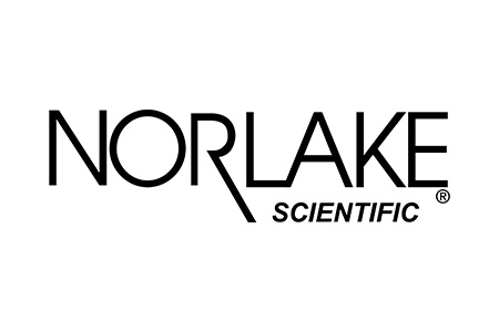 Logo for Norlake Scientific laboratory freezers with black font