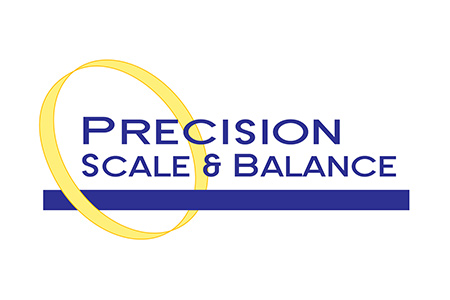 Logo for Precision Scale and Balance brand calibration weights