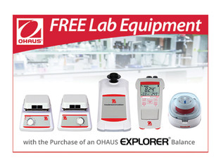 Buy an OHAUS Explorer balance, receive free lab equipment