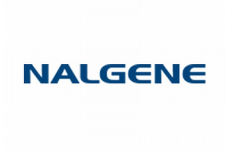 Dark blue logo for Nalgene lab bottles and plastic labware