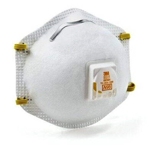 3M 8511 Particulate Respirator N95 Mask with Cool Flow Valve