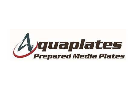 Logo for Aquaplates brand prepared media plates