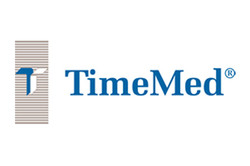 Logo for TimeMed biohazard communication labels and laboratory tapes