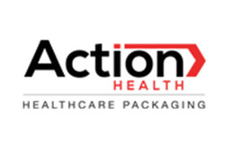 Logo for Action Health healthcare packaging