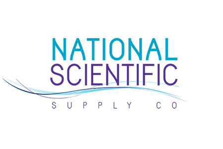 Logo for National Scientific Supply Co, manufacturer of pipette and filter tips, centrifuge tubes an