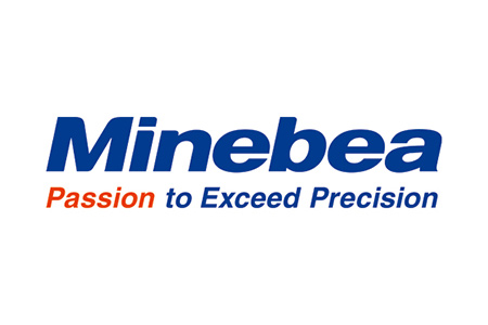 Logo for Minebea industrial weighing and inspection technologies
