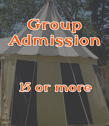 Group Discount Admission - 15+ tickets