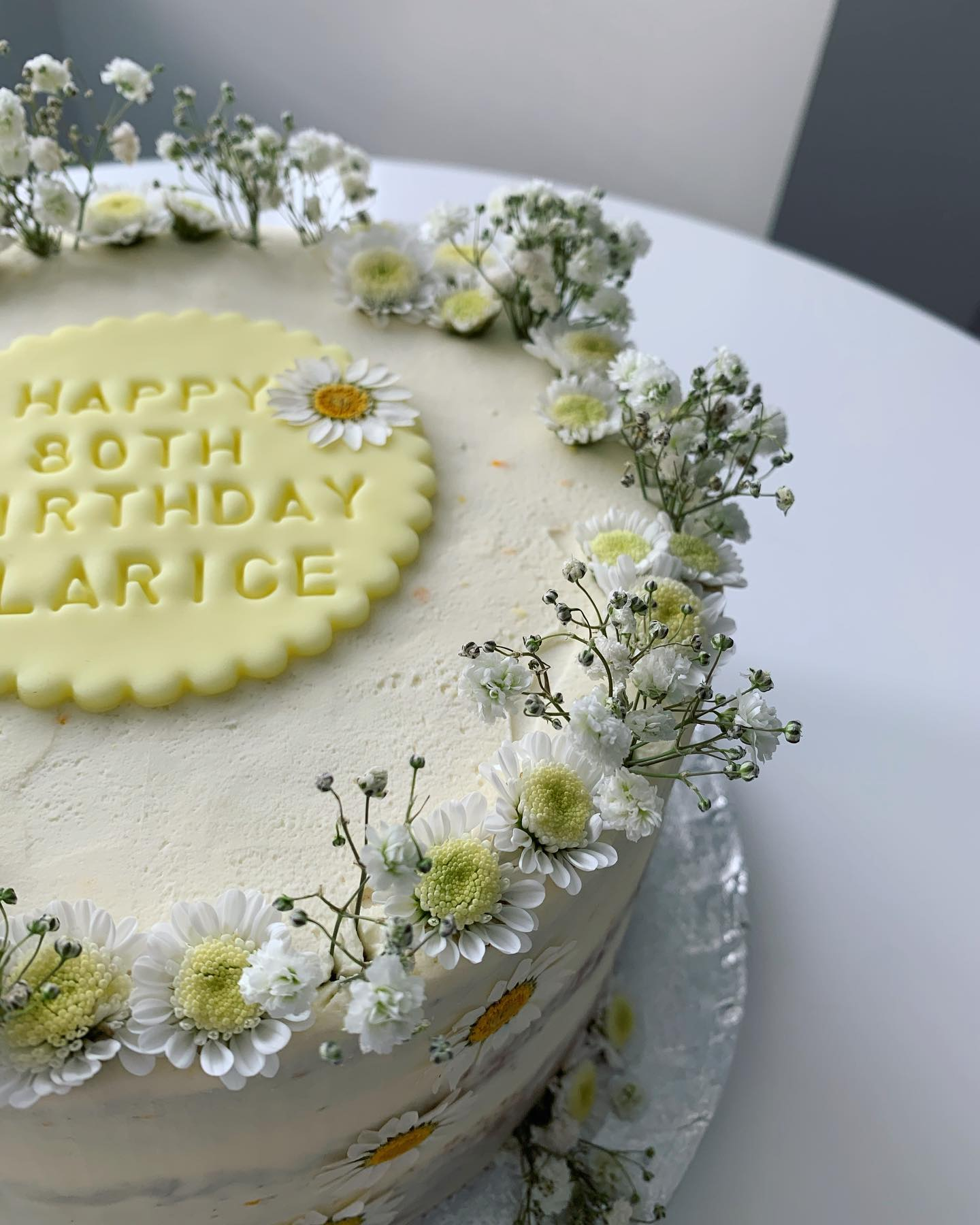 Daisy Theme Cake_LHK