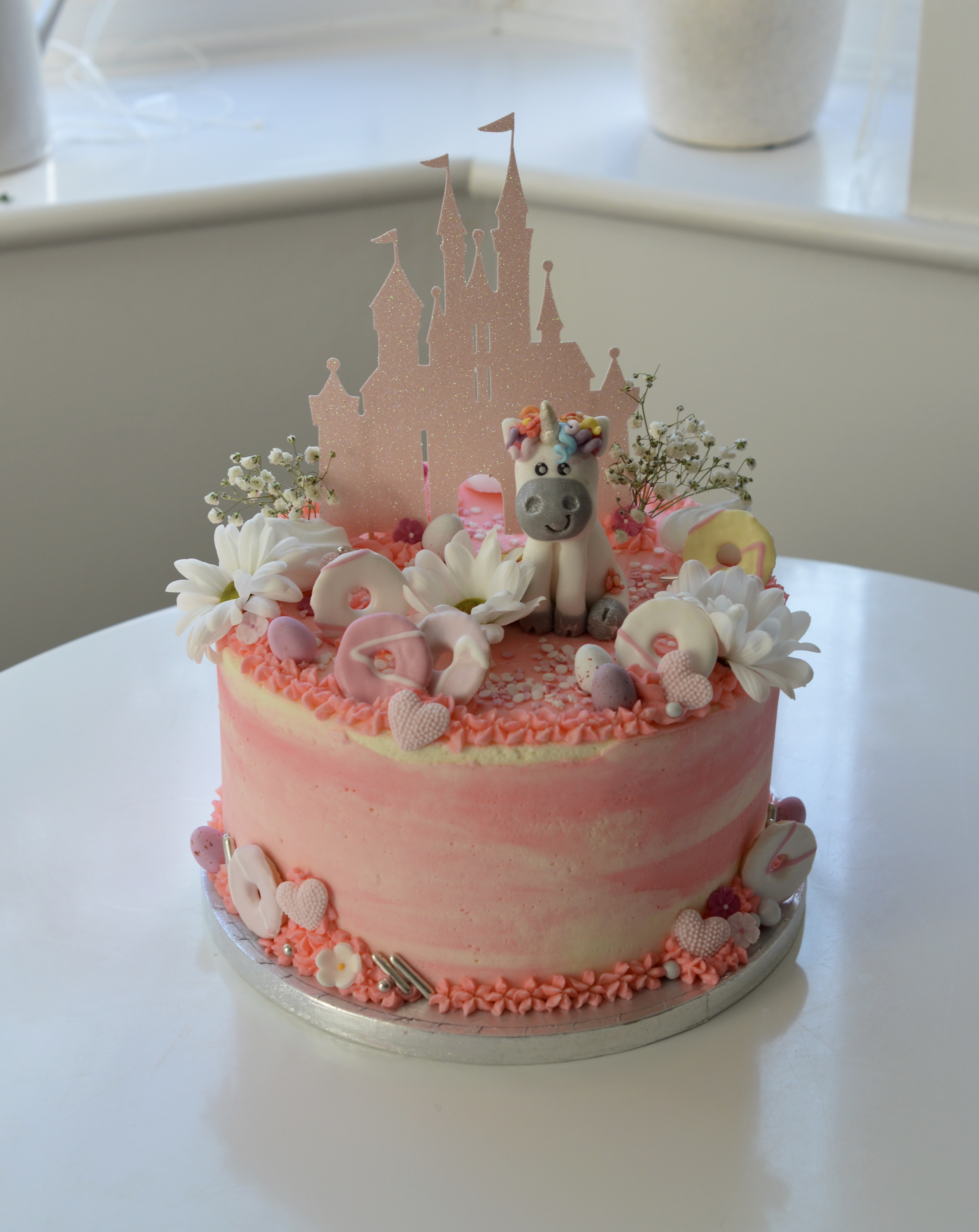 Unicorn Castle Cake