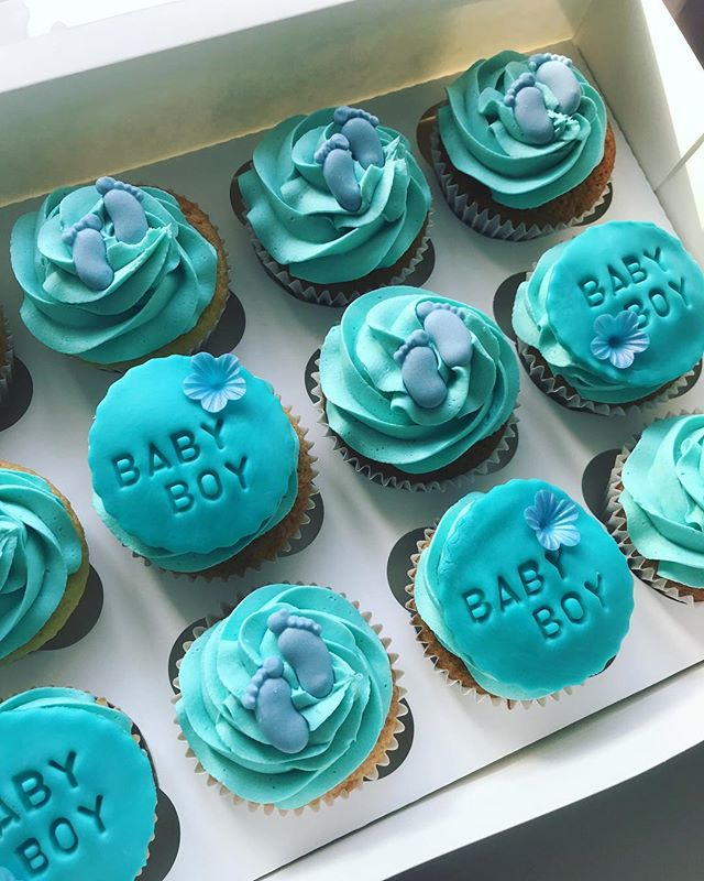 Baby Boy Baby Shower Cupcakes_LHK