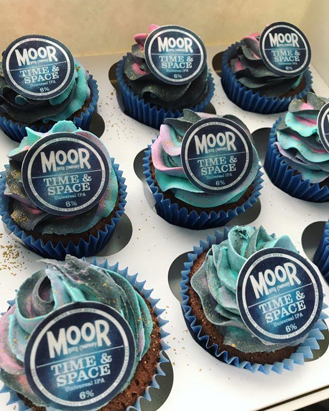 Branded Moor Beer Cupcakes