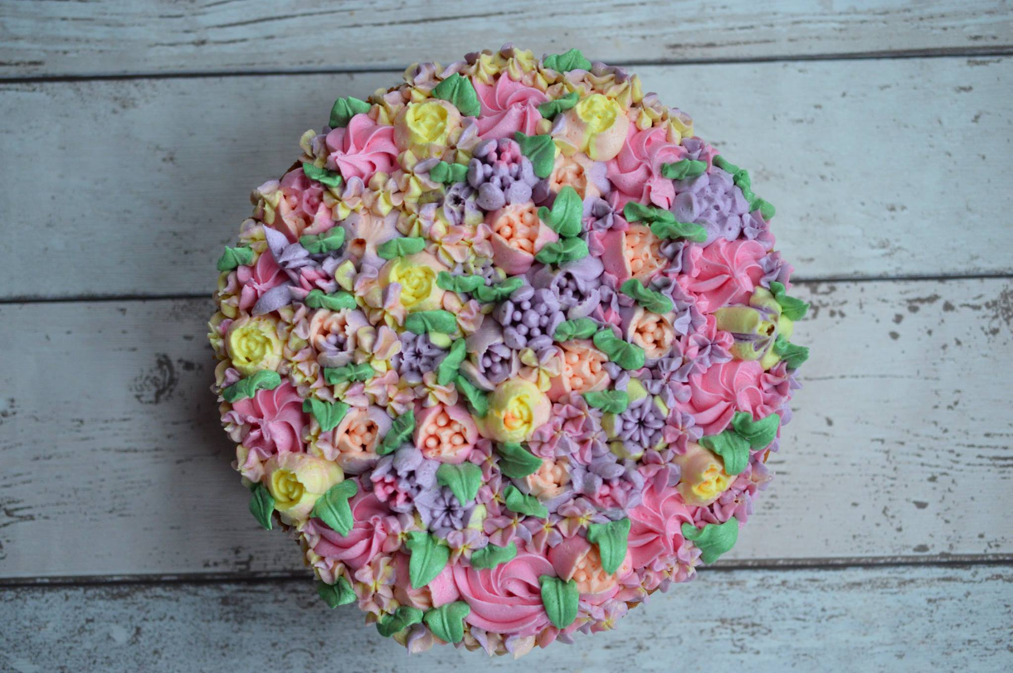 Flower Celebration Cake_LHK