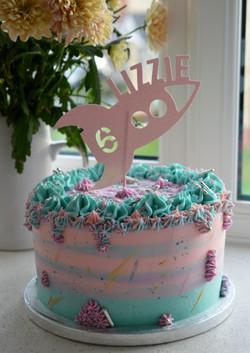 Rocket themed birthday cake