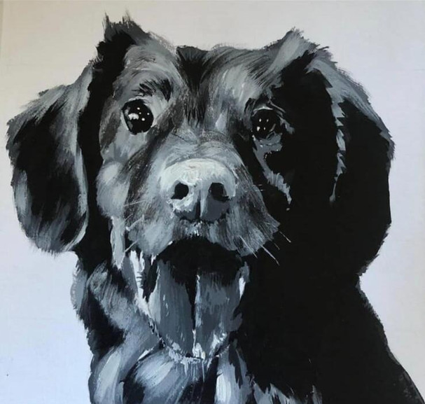 Happy Dog | Painting By Lucy Walker