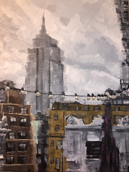 Faded New York | Painting By Lucy Walker