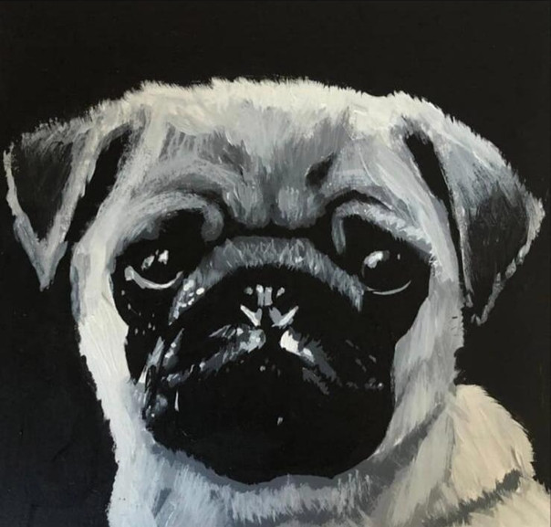 Dog Look | Painting By Lucy Walker