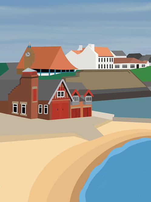 Cullercoats Beach - PRINTS of Original Artwork