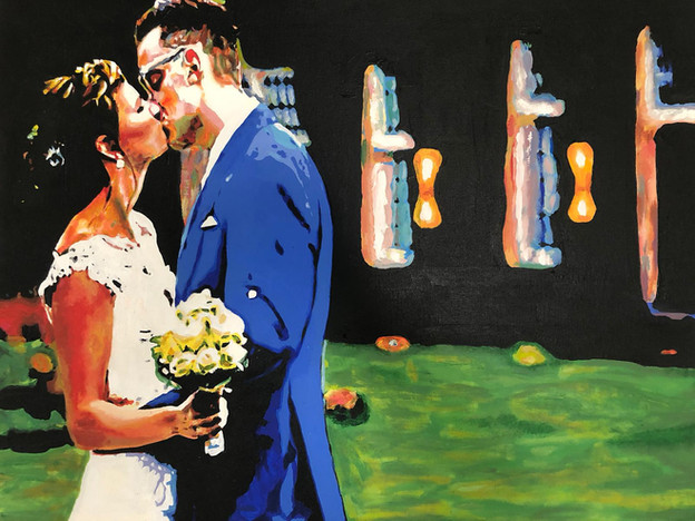 Wedding Anouk | Painting By Lucy Walker