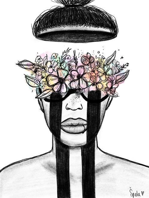 Flower Mind - PRINTS of Original Artwork