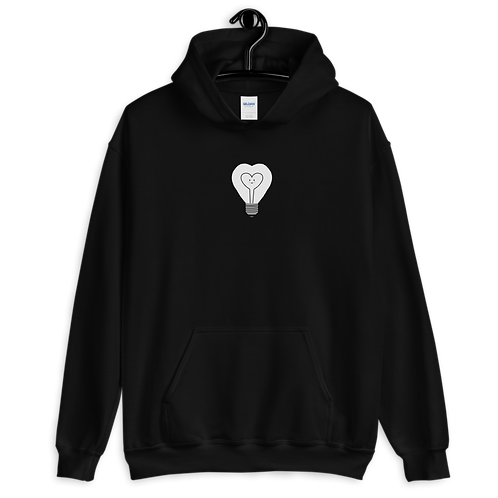 HAPPY LIGHT BULB - Support Mental Health - Unisex Hoodie