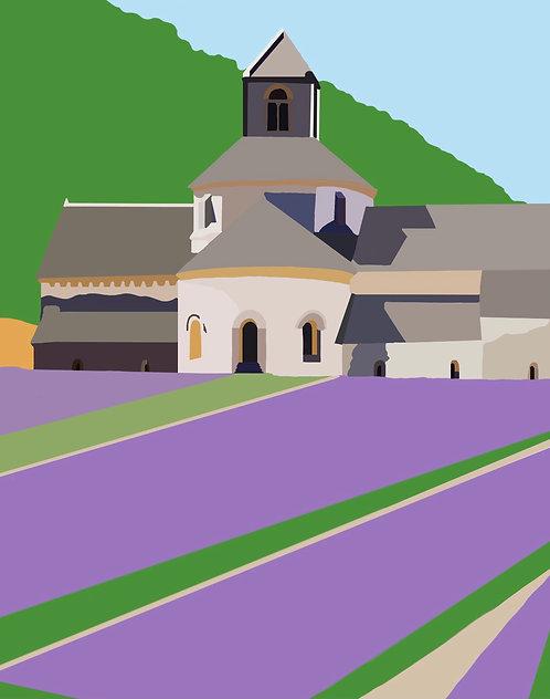 Lavender Fields PRINTS of Original Artwork