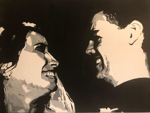 Wedding Smiles | Painting By Lucy Walker