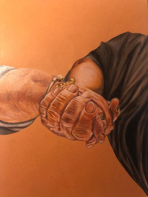 Holding On | Painting By Lucy Walker