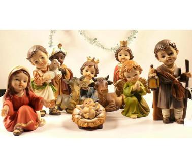 Kerststal met Kinder Figuurtjes