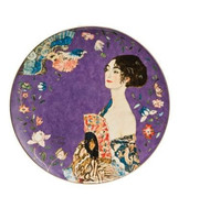 Lady with Fan - Wall Plate