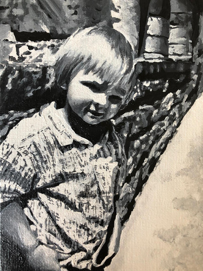Myles | Painting By Lucy Walker