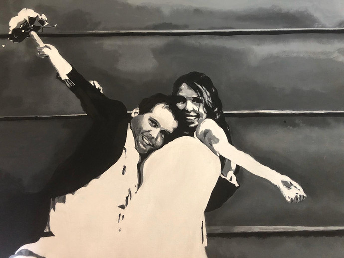 Wedding Hug | Painting By Lucy Walker