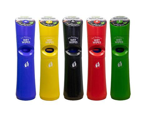 Hand & Hygiene Free Standing Wet Wipe Dispensers inc Waste Bin