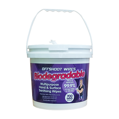 100% VISCOSE Biodegradable HAND & SURFACE Wipes - Bucket of 700 Wipes
