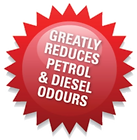 Greatly reduces Petrol & Diesel Odours P