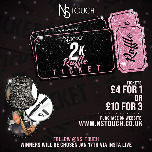 NsTouch Raffle Ticket - 3 ENTRIES