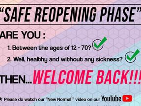 Safe Reopening Phase
