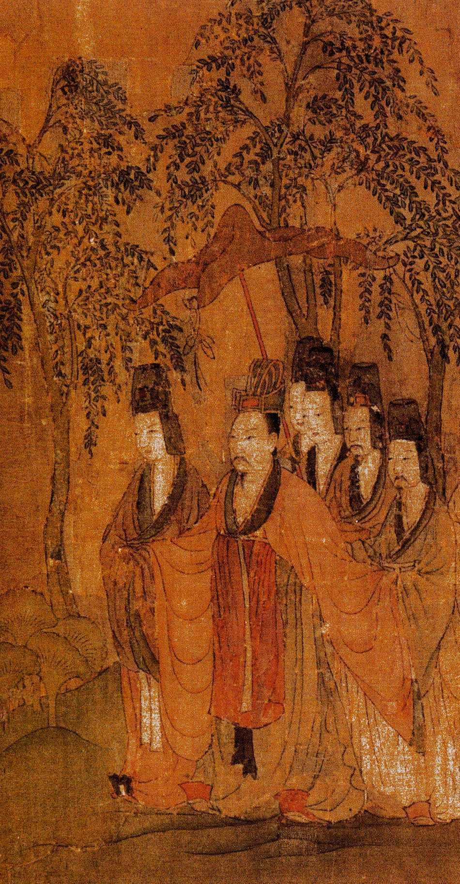 顧愷之《洛神賦圖》中 曹植全身畫像