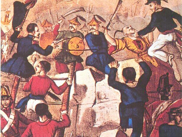 第二次鴉片戰爭中,英法聯軍進入廣州。