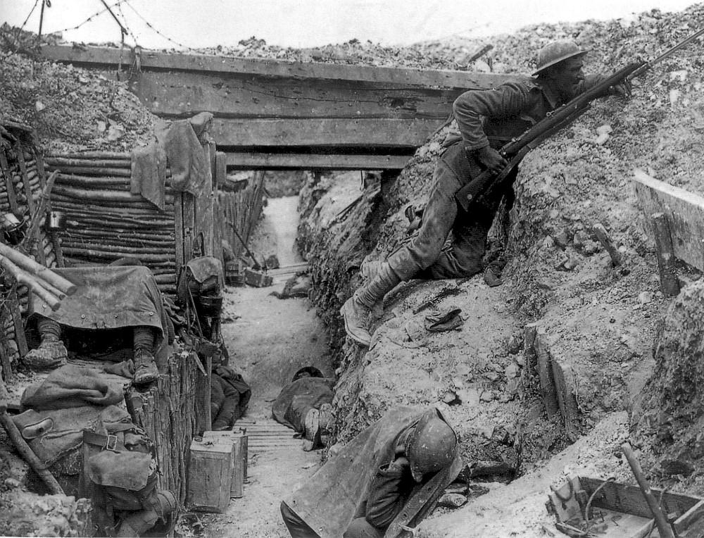 索姆河戰役的戰壕